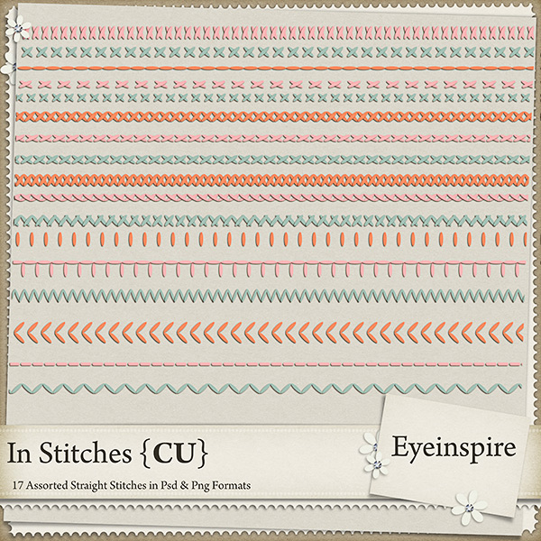 In Stitches!! Tons of Templates for your Digi Kits! Eyeinspire
