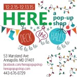 HERE. a pop-up shop returning to Maryland Avenue
