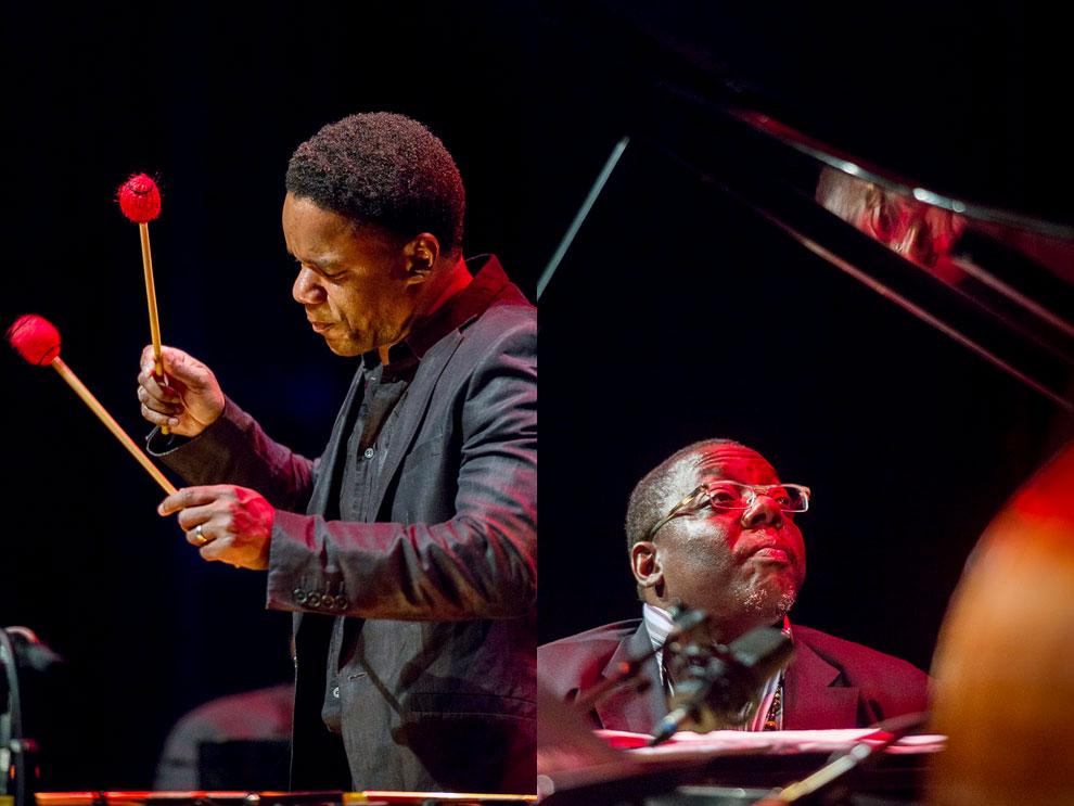 Jazz photography of Cyrus Chestnut Trio with Stefon Harris