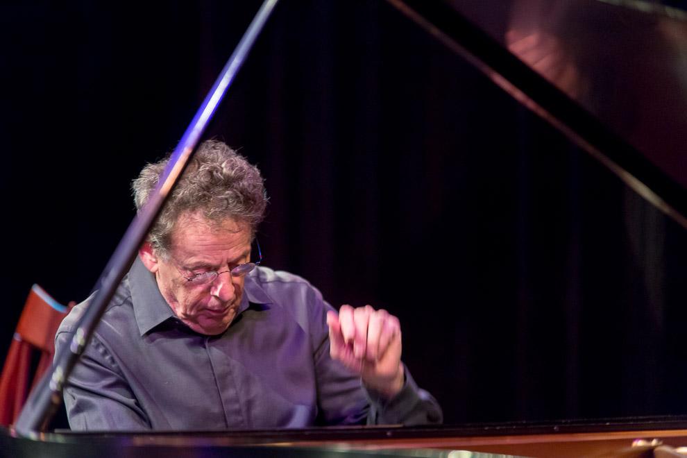 Phillip Glass in performance at Earshot Jazz Festival