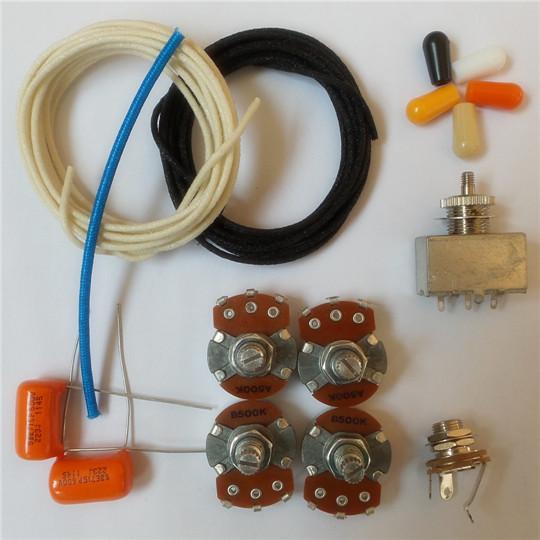Wiring Kit,for Les Paul LP custom,Alpha A / B 500K pot,3 Way Box