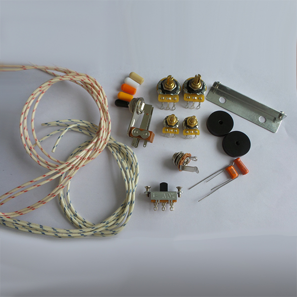 Wiring Kit,for Jazzmaster custom,CTS Pots,Slide Switch,Right Angle
