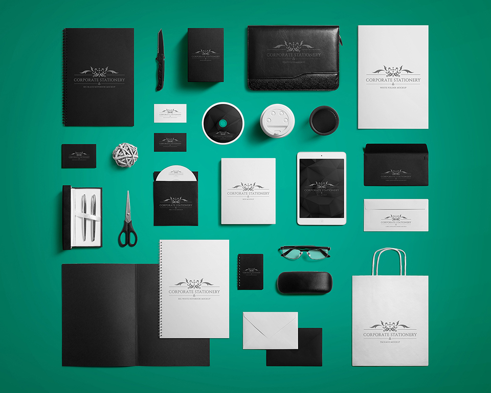 Premium Corporate Stationery Mockup eyMockup