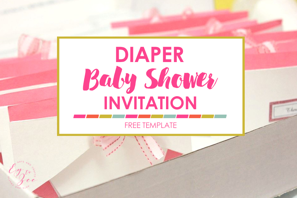 Diaper Baby Shower Invitation - diaper invitation