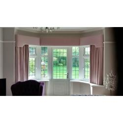 Small Crop Of Bay Window Curtains