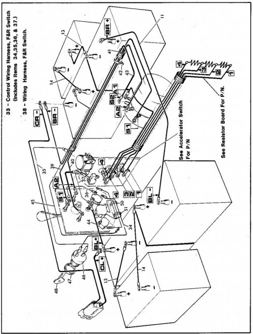 1986 ez go golf cart wiring diagram