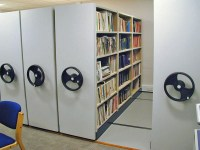 High Density Mobile Shelving For Libraries