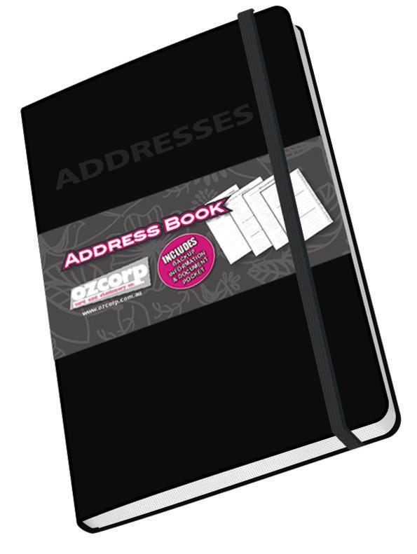Ozcorp Mini Address Book 85x125cm - Black