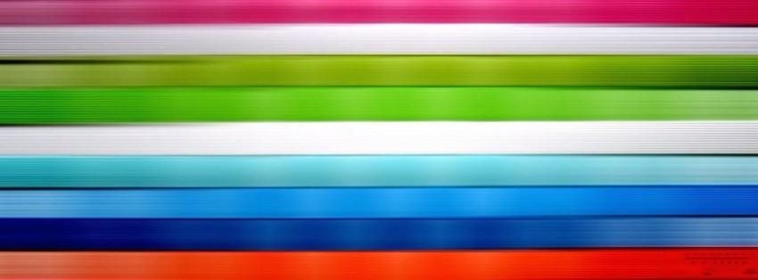 Cute Korean Art Wallpaper Abstract Multicolor Striped Texture Facebook Cover
