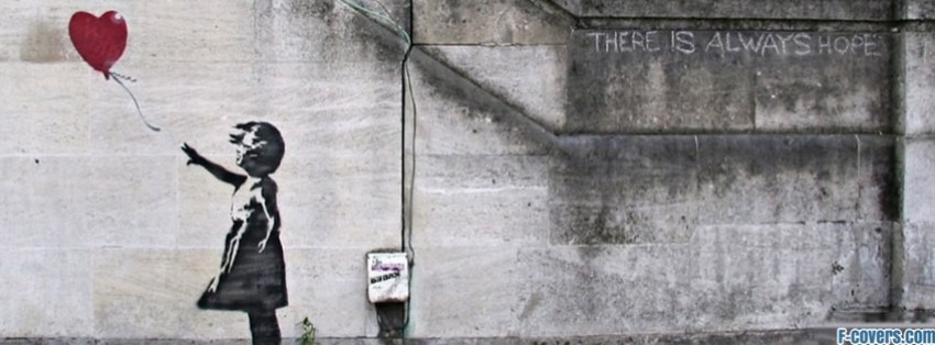 Banksy Balloon Girl Wallpaper Banksy Street Art 23 Facebook Cover Timeline Photo Banner
