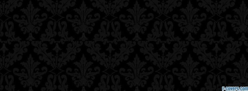 black damask pattern 2 Facebook Cover timeline photo banner for fb