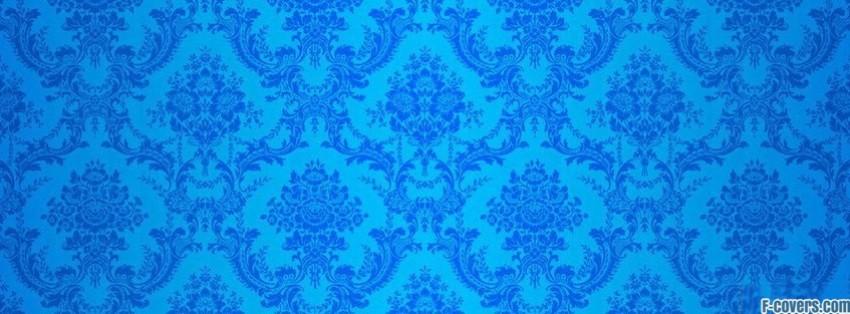blue damask 1 Facebook Cover timeline photo banner for fb