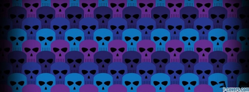 Light Pink Wallpaper Quotes Blue Purple Skulls Pattern Facebook Cover Timeline Photo