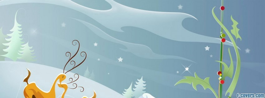 Simple Wallpapers Colors Fall Christmas Deer Clipart Facebook Cover Timeline Photo