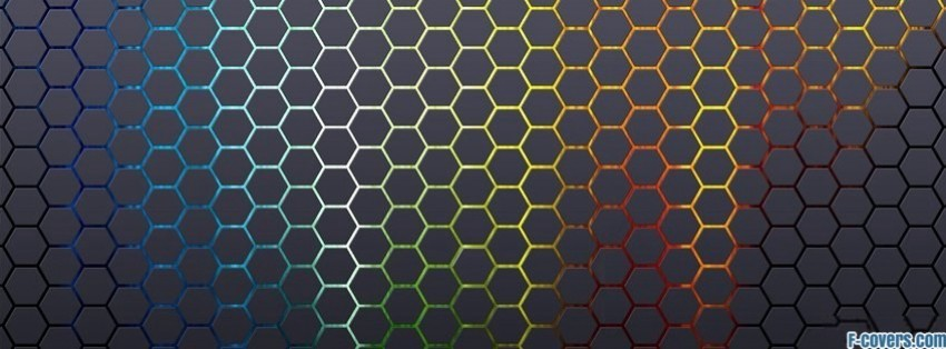Cute Circle Wallpaper Colorful Hexagon Pattern 1 Facebook Cover Timeline Photo