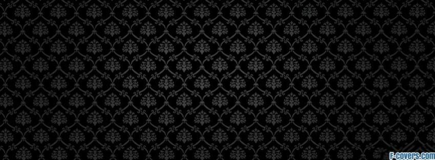 dark damask pattern 1 Facebook Cover timeline photo banner for fb
