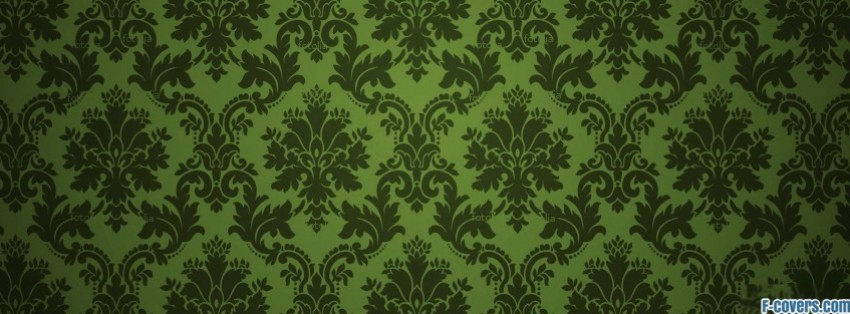 Rose Gold Wallpaper With Quotes Green Damask Pattern 2 Facebook Cover Timeline Photo
