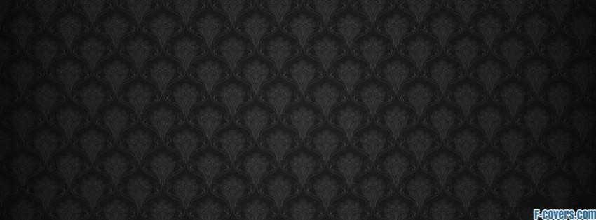 grey and black damask pattern Facebook Cover timeline photo banner