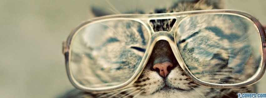 Emo Girl Wallpaper Free Download Hipster Glasses Cat Facebook Cover Timeline Photo Banner
