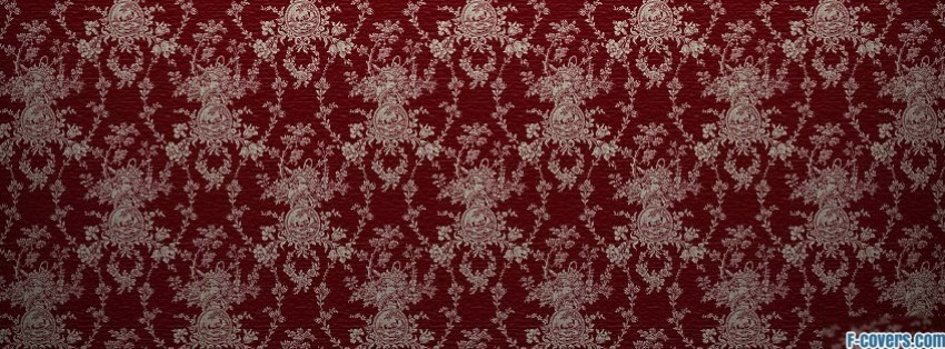 Solid Black Wallpaper Red And White Damask Pattern Facebook Cover Timeline Photo