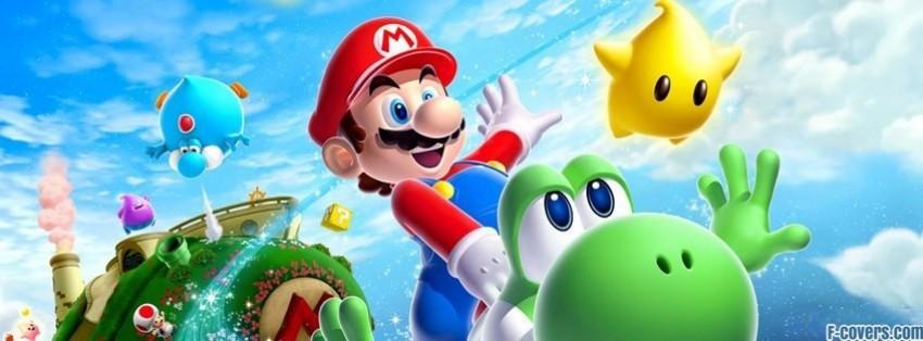 Cute Japanese Art 4k Wallpaper Super Mario Galaxy 2 Mario Yoshi Facebook Cover Timeline