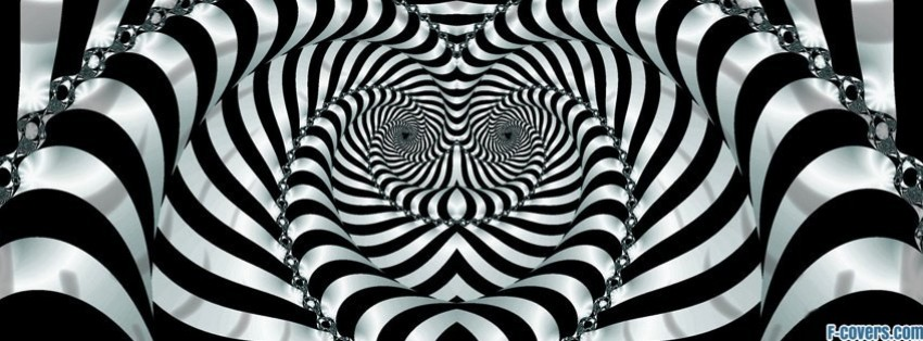 3d Rainbow Psychedeli Wallpaper Abstract Black And White Stripes Facebook Cover Timeline