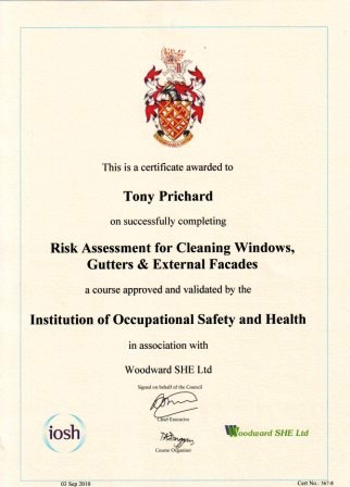 Training with the Federation of Window Cleaners
