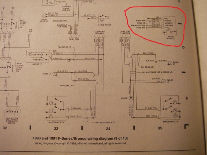 150 1991 F Radio Wiring - Wiring Data Diagram