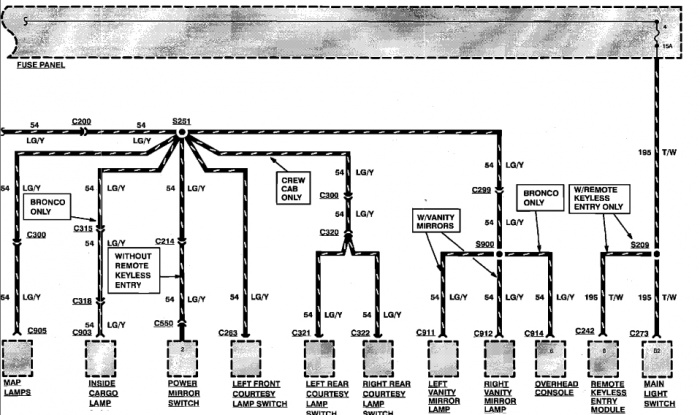 chime wiring diagram 1997 ford f150
