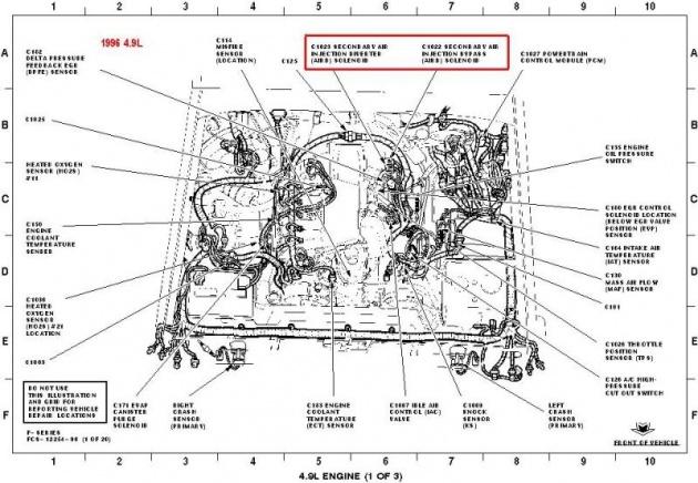 2005 ford 4 6l Motor diagram