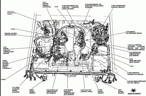 ford 5 0 engine oil pump diagram