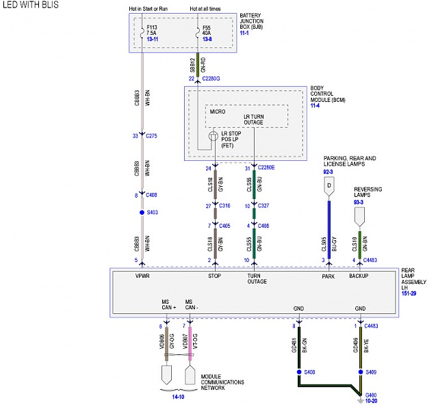 for f350 reverse light wiring diagram color code