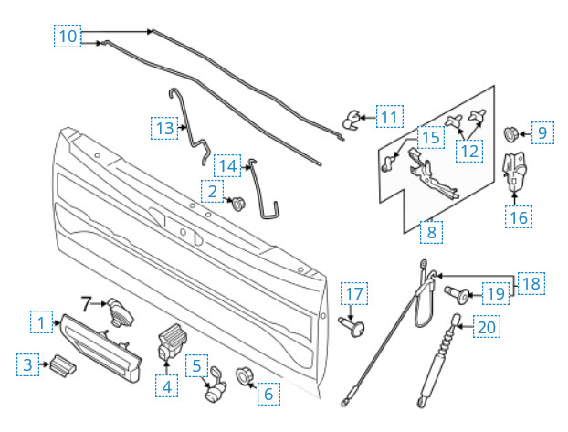 Ford F 150 Tailgate Parts Diagram Wiring Diagram Automotive