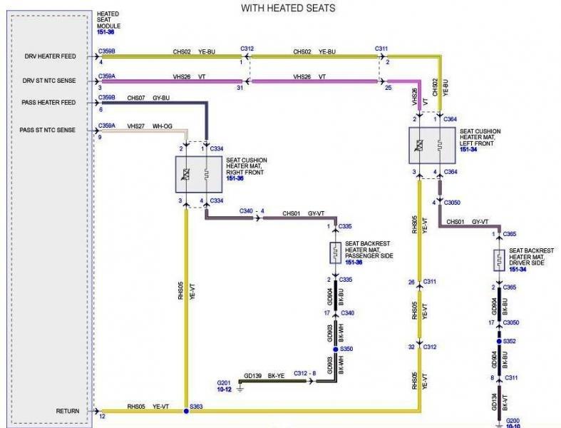 Ford Seat Wiring Wiring Diagram
