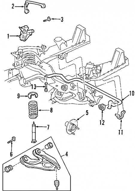 2005 ford f 150 front suspension diagram