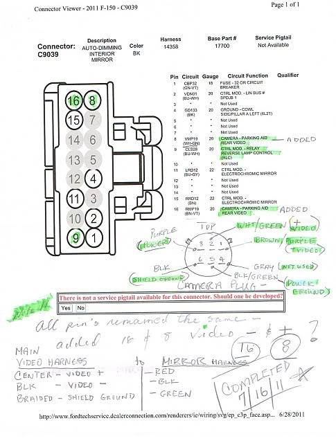 Ford Taurus Starter Wiring Diagram Ford Backup Camera Wiring Diagram