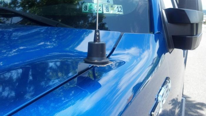 ford cb antenna hood mount 2011