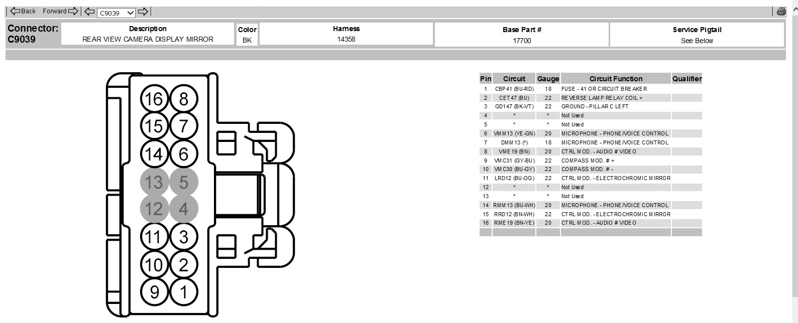 gentex mirror wiring diagram 12 pin