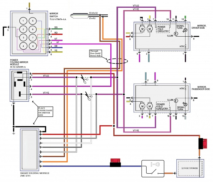 Radio Wiring Diagram As Well As Ford F 150 Power Mirror Switch