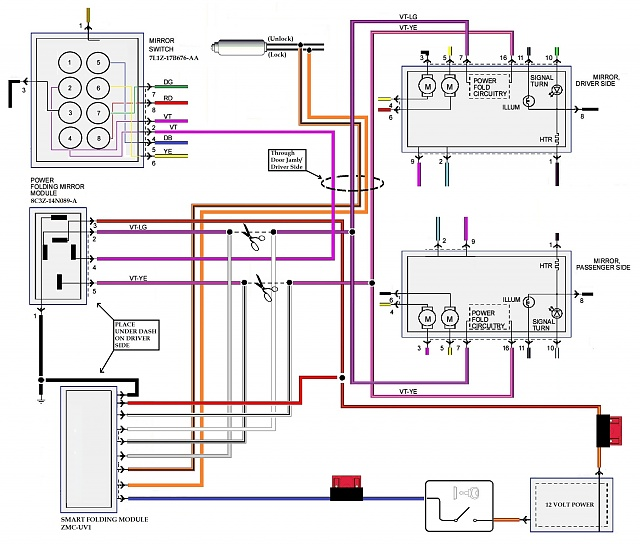 2010 f150 mirror wiring diagram auto electrical wiring diagram rh wiring radtour co