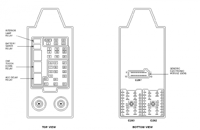 Fuse Box Diagram 2000 Ford 150 Wiring Diagram
