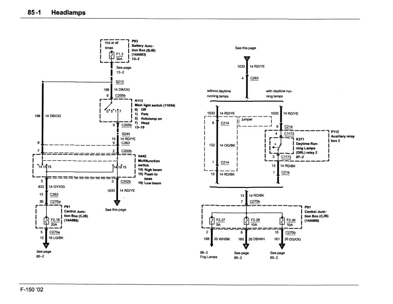 Ford Headlight Wiring Diagram - 8yvvoxuuessiew \u2022