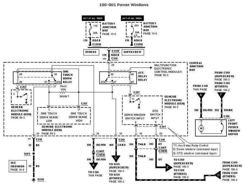 Ford F150 Window Wiring Diagram Wiring Schematic Diagram