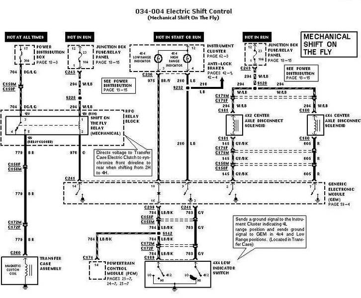 1997 chevy 4x4 actuator diagram