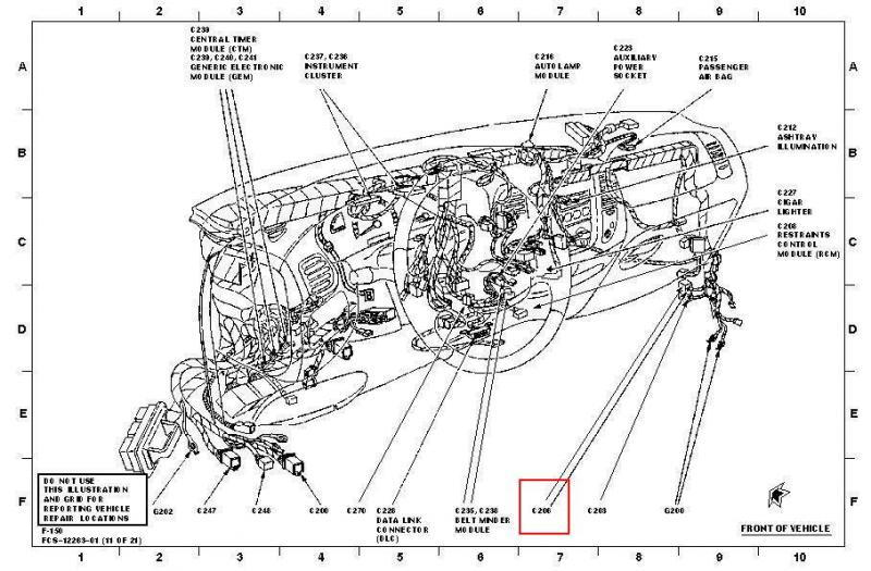 ford f 150 fuse box diagram moreover ford f 150 body parts diagram