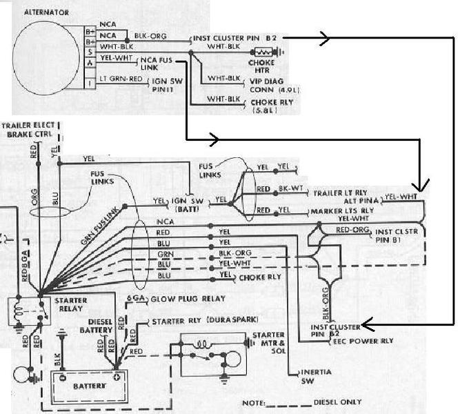 1986 ford f150 alternator wiring