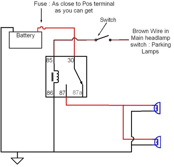 auxiliary light wiring diagram with relay