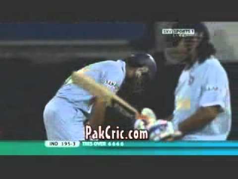Yuvraj 6 Sixes v England Twenty20 World Cup Flintoff BEEF
