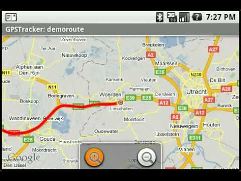 Android GPS Tracking Demonstration