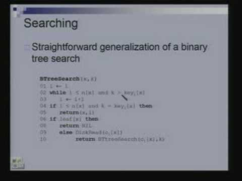 Introduction to Disk Based Data Structures Data Structures and Algorithms Lecture – 16